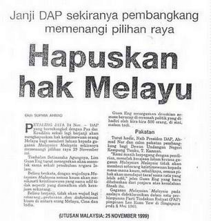 DAP nak hapus hak org melayu